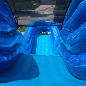 Big Blue Water Slide top view