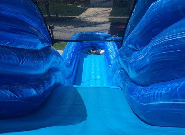 Big Blue Water Slide top view
