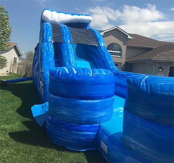 Big Blue Water Slide front view