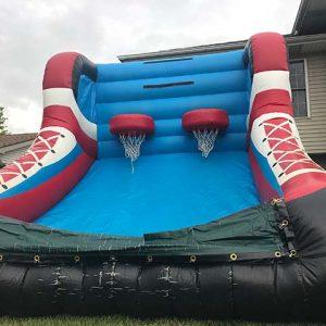 Double Basketball hoops