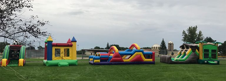Bounce House Event Outside