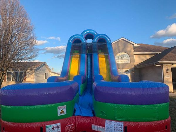 18 foot giant dual lane slide