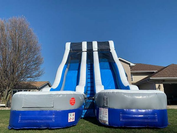24 foot dual lane water slide front view