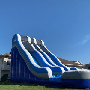 24 foot dual lane water slide side view